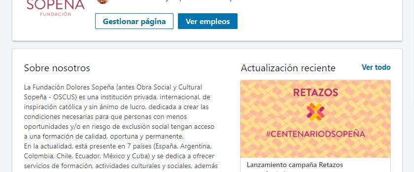 Página Profesional en Linkedin